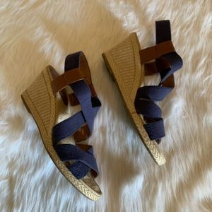 Lucky Brand Navy Espadrille Wedges size 8M